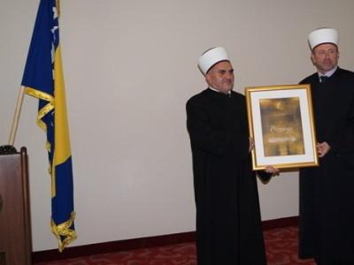 Priznanje za muftiju Mevlud ef. Dudića