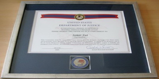 Certifikat za komesara Semira Šuta