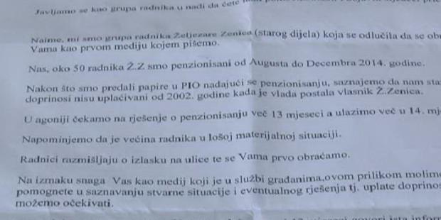 ŽZ-Traži se rješenje za penzionisanje