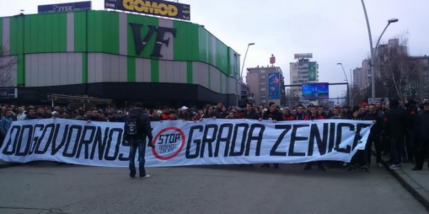 """Priređen protest """"Stop gašenju Čelika"""""""