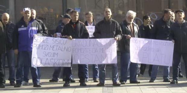 Mirni protest radnika Metalnog