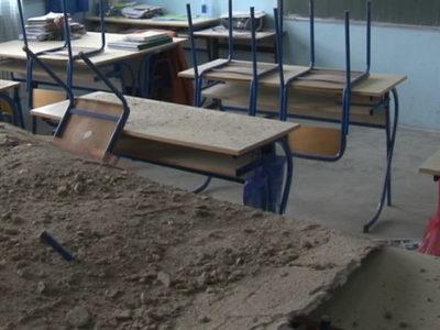 U školi u Tetovu otpao plafon u učionici