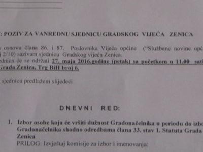 GV Zenica sutra bira v.d. Gradonačelnika