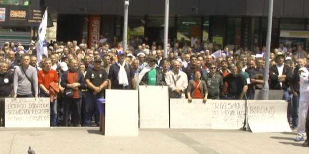 Protest demobilisanih boraca