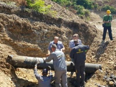 Saniran magistralni gasovod na lokalitetu Klopče