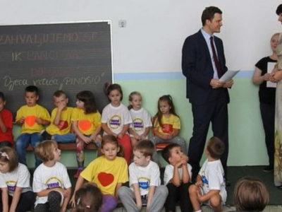 Donacija IK banke za vrtić Pinokio