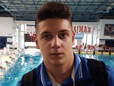 Amar Borić prvi na plivačkom mitingu u Kranju