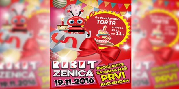 Robot Zenica slavi svoj 1. rođendan