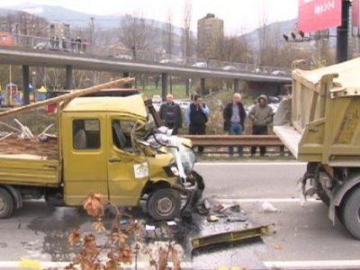 Nesreća na M-17preko puta Arene,dvije osobe povrijeđene