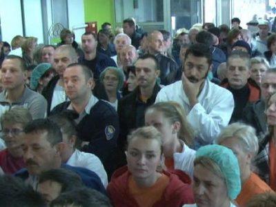 Novi štrajk upozorenja zaposlenih u Bolnici