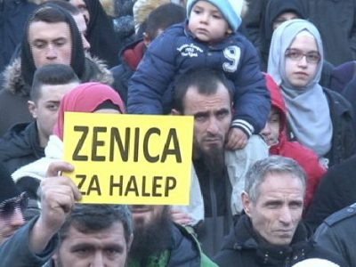 Mirna šetnja Zeničana za Halep