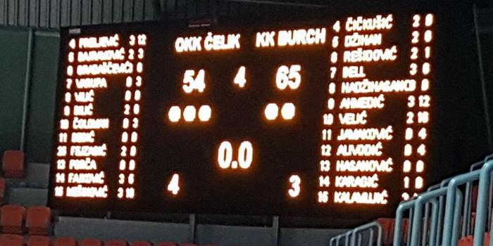 Košarkaši Čelika poklekli u finišu susreta