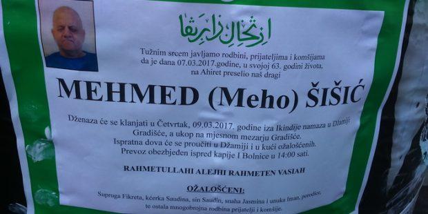 Preminuo Mehmed Šišić,dugogodišnji predsjednik ODB-a