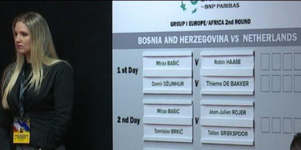 Izvučeni parovi teniskog meča BiH-Holandija