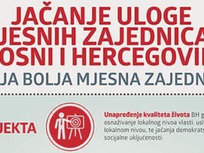U Zenici počela realizacija Projekta jačanja uloge mjesnih zajednica