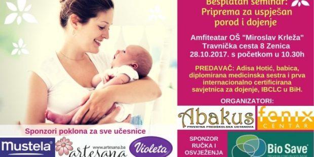 """Besplatan seminar """"Priprema za uspješan porod i dojenje"""""""