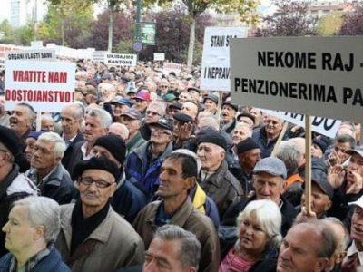 Na protestima u Sarajevu očekuje se 100 hiljada penzionera