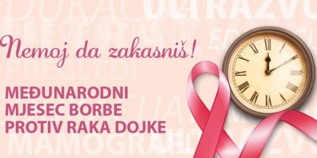 INZ: Uz Oktobar, mjesec borbe protiv raka dojke
