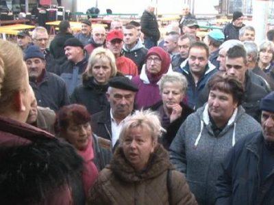 Protestovali zakupci prostora na Gradskoj pijaci
